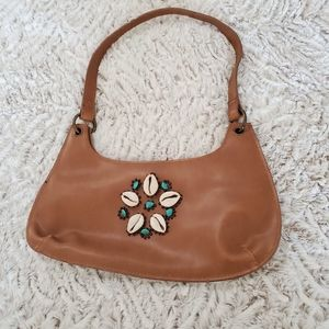 Seashell Faux Leather Shoulder Bag